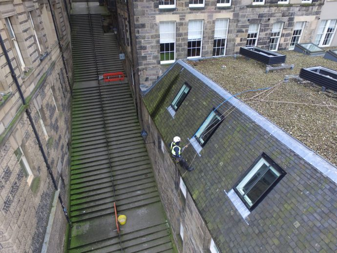 rope access roofing edinburgh