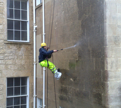 Rope access Stone Cleaning