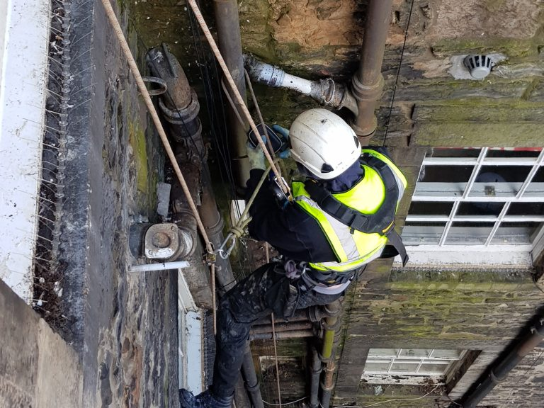 rope access gutter inspection