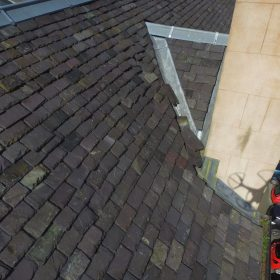 Loose slates UAV inspection