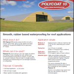 Polycoat 10 liquid Applied Roofing