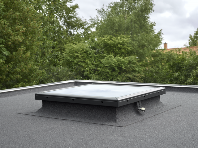 VELUX curved glass flat roof window